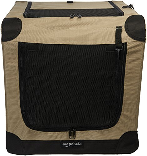 AmazonBasics Folding Soft Dog Crate, 26""