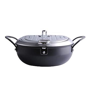 Hogar y Cocina/Menaje de Cocina/Cazuelas y TER Sartén Freidora Casera con Termómetro