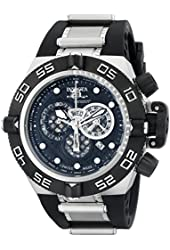 Invicta Men's 6564 Subaqua Noma IV Stainless Steel Watch With Black Polyurethane Band