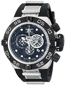 Invicta 6564 - Reloj cronógrafo de cuarzo para hombre con correa de caucho, color negro