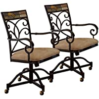 Pompeii Caster Dining Chairs - Set of 2