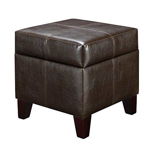 Dorel Living Storage Ottoman, Small, Espresso