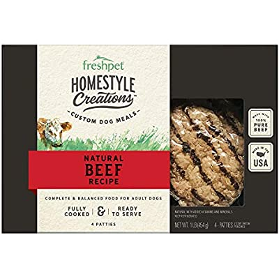 FRESH PET, Dog Food Homestyle Creations Beef Recipe, 4 Count, 16 Ounce