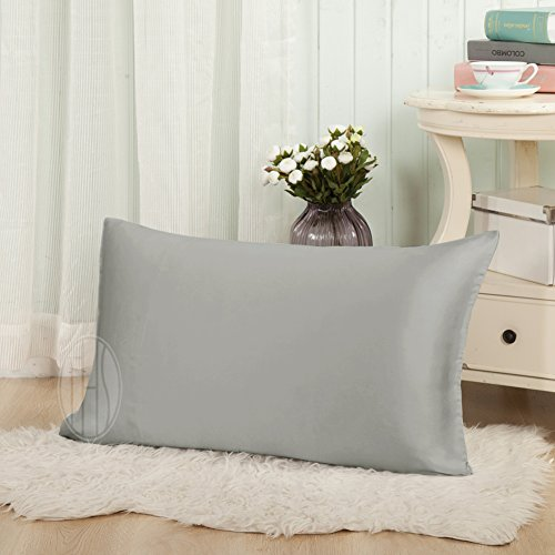 19 Mm Silk (THXSILK 19mm Mulberry Silk Pillowcase for Hair and Skin Beauty Standard Twin 20x27 inch,)