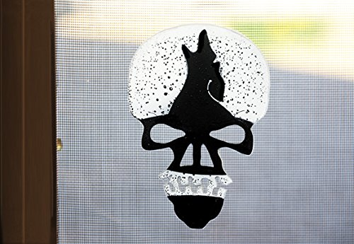 Coyote Skull Screen Magnet in Black and White