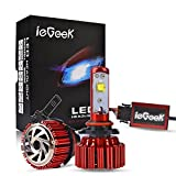 Image of ieGeek Car LED Headlight Bulbs All-in-One Conversion Kit - 9006/HB4 - 60w 7200Lm 6K Cool White - CREE - 2 Yrs Warranty
