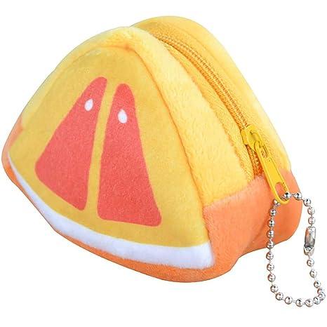 Meiyuan - Monedero de Peluche con Forma de Kiwi, triángulo ...