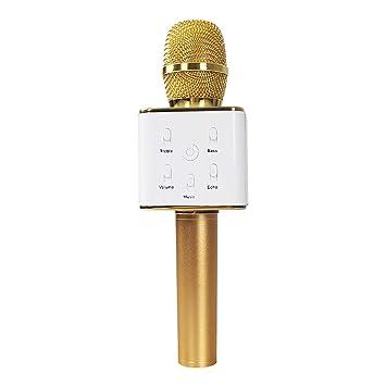 MHOLR Bluetooth Karaoke Micrófono Inalámbrico Reproductor ...