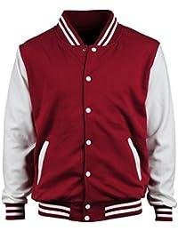 Amazon.com: Red - Varsity Jackets / Lightweight Jackets: Clothing ...
