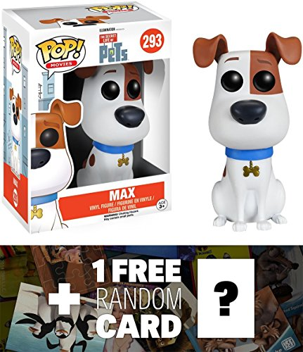 Max: Funko POP! x The Secret Life of Pets Vinyl Figure + 1 FREE CG Animation Themed Trading Card Bundle (089092)