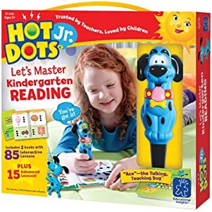 Educational Insights Hot Dots Jr. Let's Master Kindergarten Reading Set, Homeschool & Kindergarten Readiness, 2 Books & Interactive Pen, 100 Math Lessons, Ages 5+