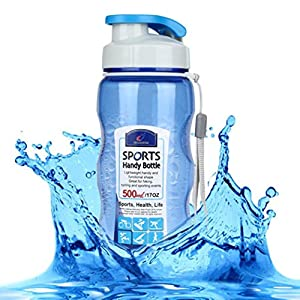 Sport Water Bottle,Hongxin Portable Travel Sport Tea Water Seal Bottle 500ml Travel Bottle Outdoor Picnic Bicycle Bike Camping Kettle With Lid Handy Glass Bottles (Blue)