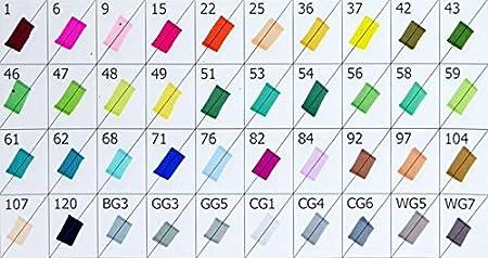 PU sac 30pcs manga TOUCHFIVE/® NOUVEAU PU SAC Lot de 30pcs 40ps 60pcs 80pcs marqueurs de dessin surligneur stylo Marker pen peinture de double pointes 1mm // 6mm pour peinture manga design