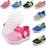 DADAWEN Baby's Boy's Girl's Water Shoes Lightweight Breathable Mesh Running Sneakers Sandals Pink