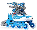 Inline Skates Adjustable PVE Fabric MAX FIT memory liner Blue , L , blue