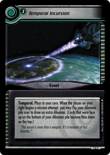 STAR TREK CCG 2E SNW STRANGE NEW WORLDS ARCHIVE FOIL TEMPORAL INCURSION 7A5 by Star Trek CCG