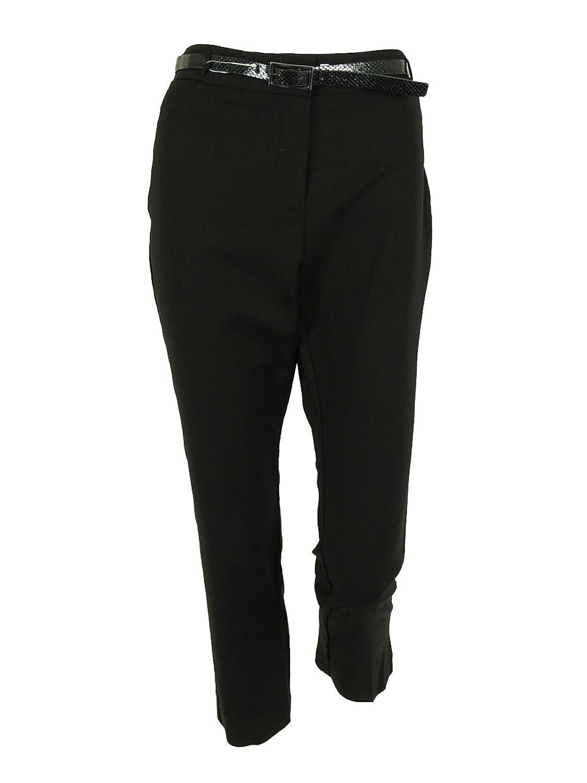 Alfani Women's Slim Leg Belted Dress Pants