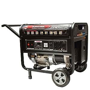 Tomahawk Power TG5000, 5000 Running Watts/5500 Starting Watts, Gas Powered Portable Generator