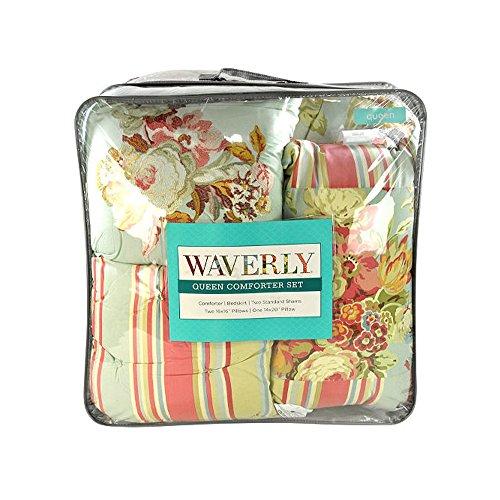 Waverly Glorious Garden - Vapor 7 Piece Queen - Waverly Garden Bedding