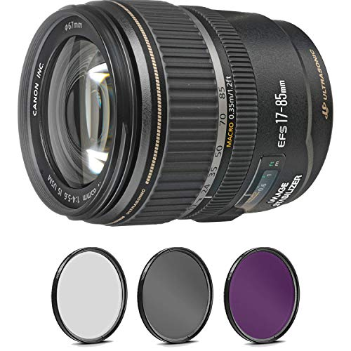 Canon EF-S 17-85mm f/4-5.6 is USM Lens with Pro Filter (Renewed)