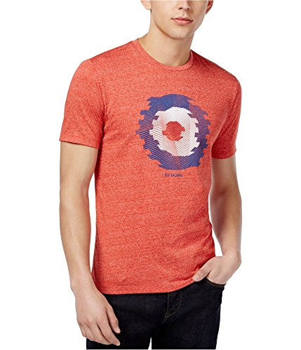 Ben Sherman Mens Heathered Graphic T-Shirt, Red, X-Large