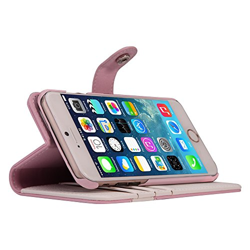 AceAbove iPhone 6S Wallet Case, Premium PU Leather Wallet Cover with [Card Slots] & [Stand] Function for Apple iPhone 6 (2014)/iPhone 6S (2015) – Pink by AceAbove (Image #2)