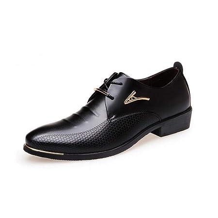 Para Hombre Negro Imitación Cuero Inteligente Formal Casual zapatos botas de trabajo Diseñador De Moda