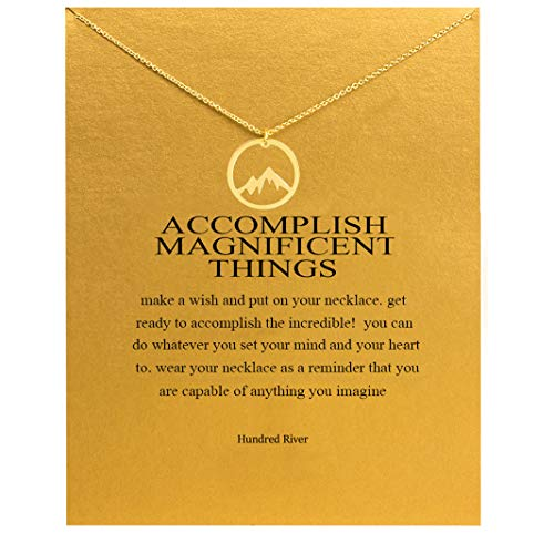 Hundred River Sport Necklace Mountain Necklace Snow Peak Necklace with Message Card Gift Card (Mountain)
