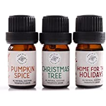 Prairie Essentials - Holiday Joy Essential Oil Blends 3 Pack - Pumpkin Spice, Christmas Tree, Home for the Holidays - 100% Pure, Undiluted, Therapeutic Grade