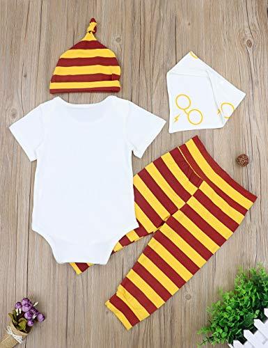 Baby Boy Girl Clothes Cuddle Questi Babbani Maniche Lunghe 3 Pezzi Completi Pagliaccetto Pantaloni Cappello, Tuta a… 3