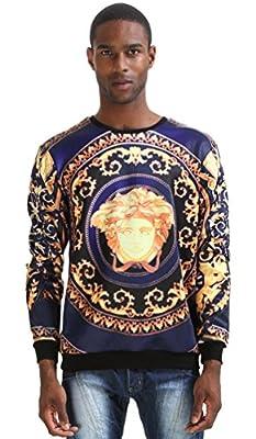 PIZOFF Unisex Long Sleeve 3D Funny Print Sweatshirts