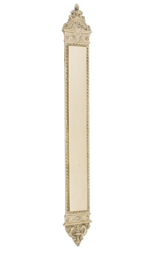 BRASS Accents A04-P6600-605 L'Enfant Push Plate, 3'' x 23-3/8'', Polished Brass