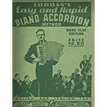 Zordan's Easy And Rapid Piano Accordion Method Bass Clef Edition