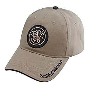 Smith & Wesson S&W Embroidered Circle Logo Cap with Brim Text – Officially Licensed