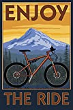 Enjoy the Ride - Mountain Bike Scene (12x18 Collectible Art Print, Wall Decor Travel Poster)