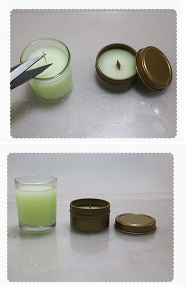 Supvox 50pcs m/èches de bougie pr/é-cir/é pr/é-tamponn/é avec noyau de coton de soutiens cir/é pour bricolage bougies 17cm