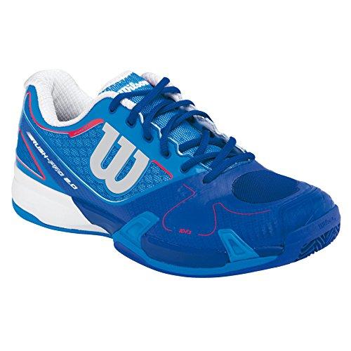 Wilson Rush Pro 2.0 Clay Court Neptune, Unisex adultos Zapatillas de tenis, Azul / Blanco, 42
