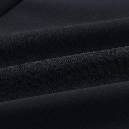 Chemises lgante Haute Dentelle V Longues Manches Jahurto Col Blouse Femmes Mousselinesoie Black Zvw7WxpRBq