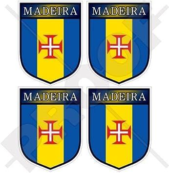 """MADEIRA Portugal, Portugués Escudo 50mm (2"""") Pegatinas de Vinilo Adhesivos, Stickers"""