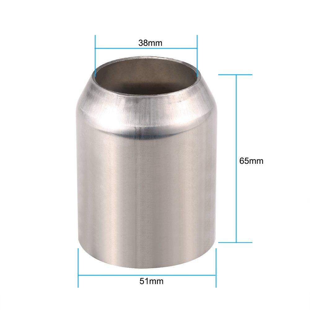 silenziatore di scarico in acciaio inox universale per auto; 38 mm-51/mm in fibra di carbonio con coda obliqua adattabile alle motociclette Kkmoon