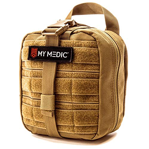 The MyFAK by MyMedic: My First Aid Kit - Best First Aid Kit for Car, Adventure, Home, Business, Aircraft, Boat, Professional, Tactical, Trauma, iFAK, EDC and More. (Advanced, Coyote)
