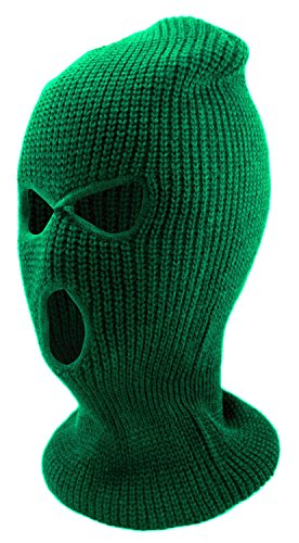 Enimay Three Hole Ski Snowboard Mask Winter Beanie Balaclavas Green