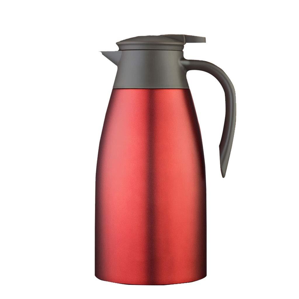 FYCZ Edelstahl Pumpe Aktion Isolierflasche Krug - Ideal heiße und kalte Getränke Getränke Tee Kaffee Wasser groß (2L)