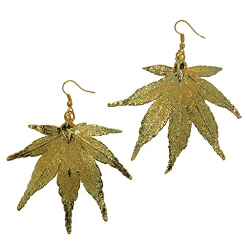 24k Gold Dipped REAL Japanese Maple Leaf, Gold Plated Lea...