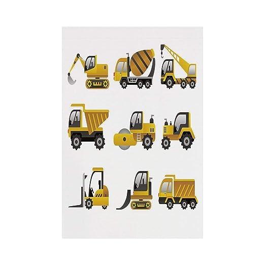 JKOVE Bandera, Construction Big Vehicles Icon Collection ...