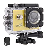 SJCAM Original SJ4000 WiFi Action Camera 12MP 1080P H.264 1.5 Inch 170° Wide Angle Lens Waterproof Diving HD Camcorder Car DVR (Yellow)