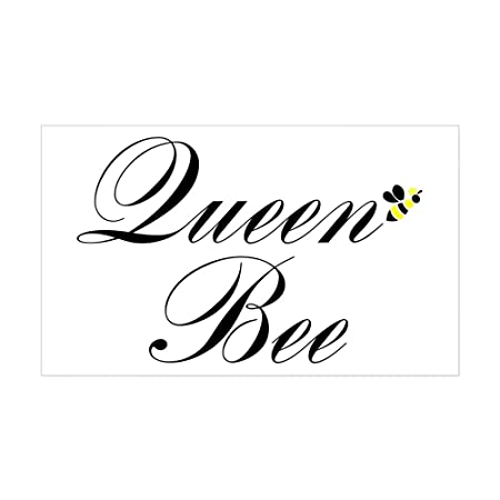 Cafepress queen bee rectangle sticker rectangle bumper sticker car decal