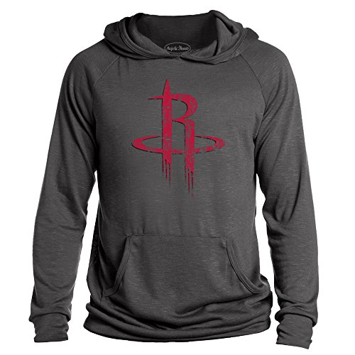 Majestic Athletic NBA Houston Rockets Men's Premium Hacci Slub Pullover Hoodie, Large, Granite - Majestic Athletic Mens Pullover
