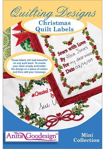Anita Goodesign Quilting Designs Christmas Quilt Labels 175MAGHD