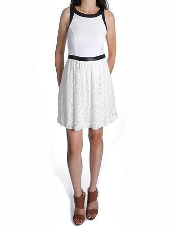 13ac9f7b68 Kensie Women s Leather Trim Floral Lace Mini Dress (6) at Amazon ...